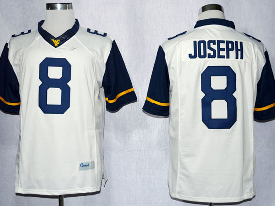 Mens Ncaa Nfl Virginia Mountaineers #8 Joseph White Limited Jersey Gz