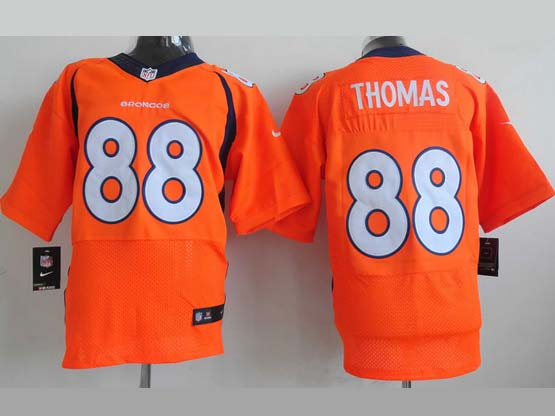 Mens Nfl Denver Broncos #88 Thomas Orange (2013 New) Elite Jersey