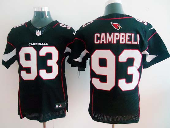 Mens Nfl Arizona Cardinals #93 Calais Campbell Black Elite Jersey