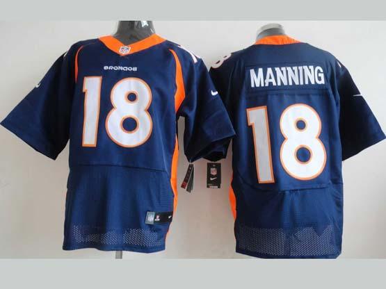 Mens Nfl Denver Broncos #18 Manning Blue Elite Jersey