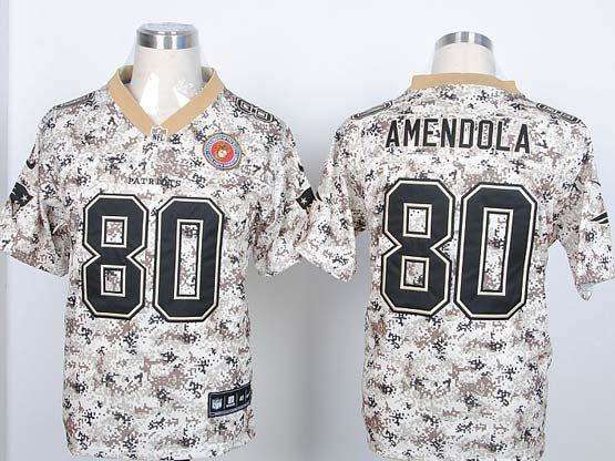 Mens Nfl New England Patriots #80 Amenoola 2013 New Camo Fashion Jersey