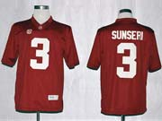 Mens Ncaa Nfl Alabama Crimson #3 Sunseri Red Sec Limited Jersey Gz