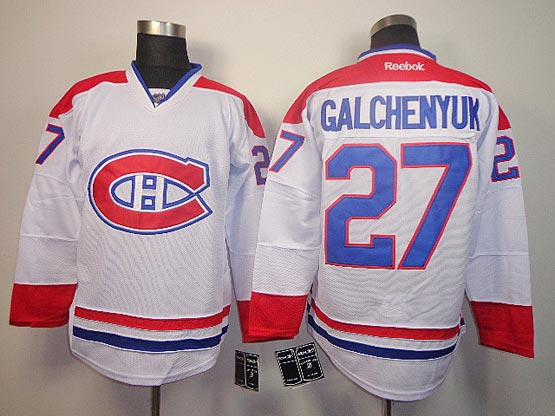 Mens reebok nhl montreal canadiens #27 galchenyuk white (ch) Jersey