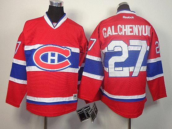 youth reebok nhl montreal canadiens #27 galchenyuk red (ch) Jersey