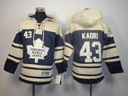 youth nhl toronto maple leafs #43 kadri blue a patch hoodie Jersey