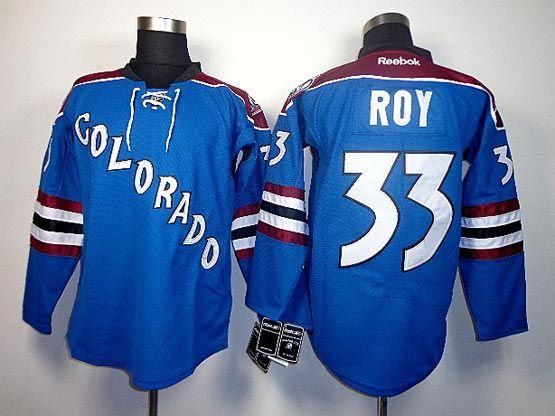 Mens reebok nhl colorado avalanche #33 roy blue Jersey