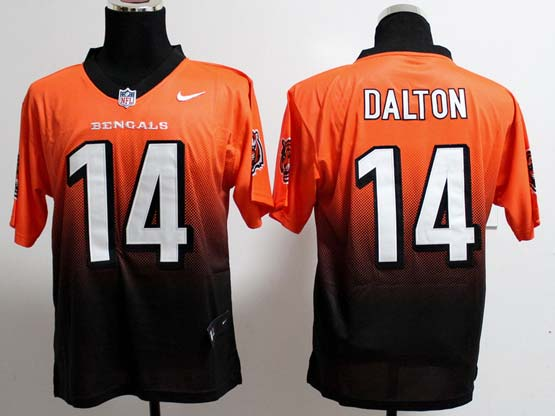 Mens Nfl Cincinnati Bengals #14 Dalton Orange&black Drift Fashion Ii Elite Jersey