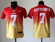 youth nfl San Francisco 49ers #7 Colin Kaepernick red&yellow drift fashion ii elite jersey