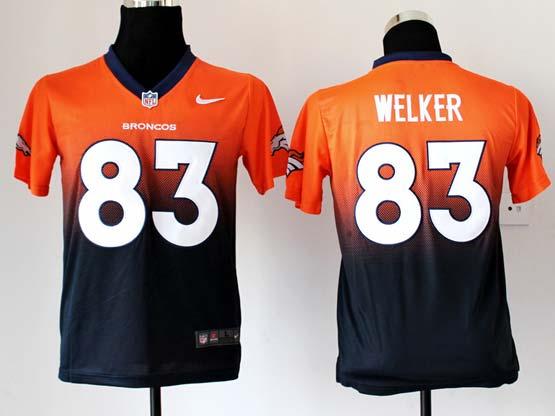 Youth Nfl Denver Broncos #83 Welker Orange&black Drift Fashion Ii Elite Jersey