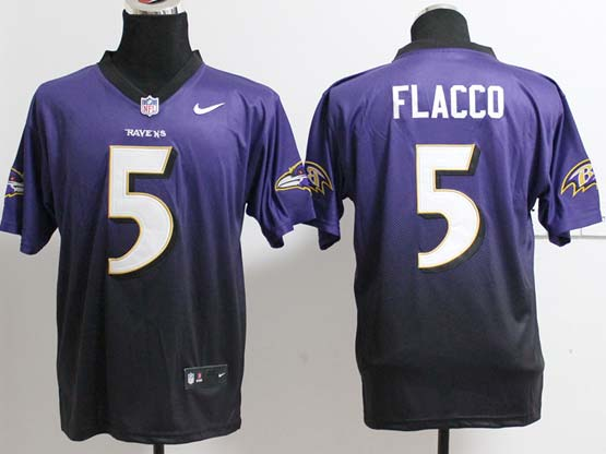 Mens Nfl Baltimore Ravens #5 Joe Flacco Pruple&blue Drift Fashion Ii Elite Jersey