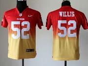 Youth Nfl San Francisco 49ers #52 Willis Red&yellow Drift Fashion Ii Elite Jersey