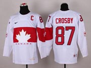 Mens nhl team canada #87 crosby white (2014 olympics) Jersey