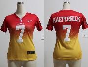 women  nfl San Francisco 49ers #7 Colin Kaepernick red&yellow drift fashion ii elite jersey
