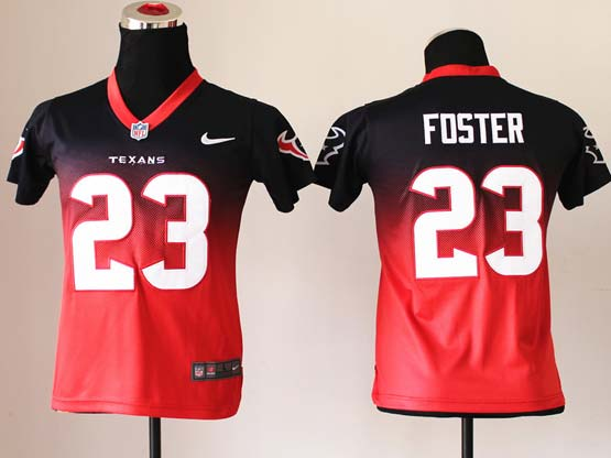 Youth Nfl Houston Texans #23 Foster Blue&red Reddrift Fashion Ii Elite Jersey
