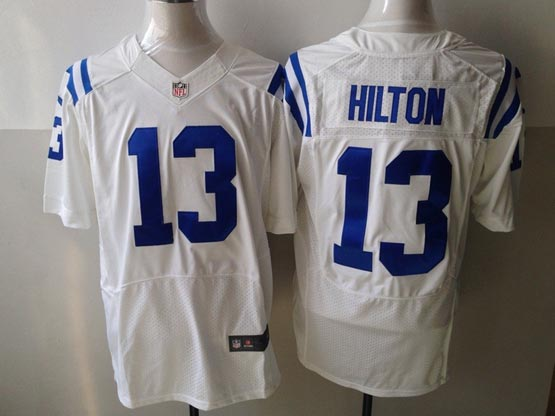 Mens Nfl Indianapolis Colts #13 Hilton White Elite Jersey