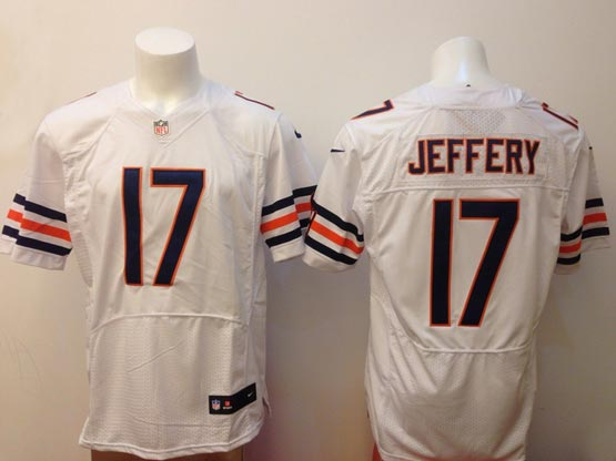 mens nfl Chicago Bears #17 Alshon Jeffery white elite jersey