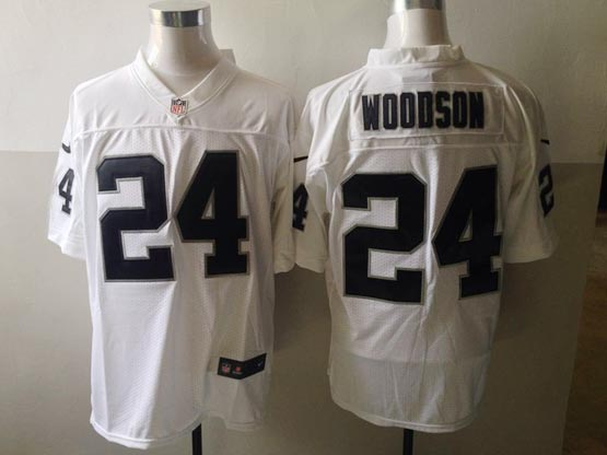 mens nfl Oakland Raiders #24 Charles Woodson white elite jersey