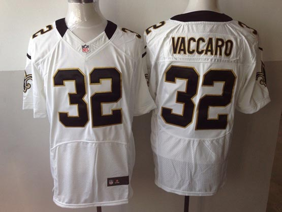 Mens Nfl New Orleans Saints #32 Vaccaro White Elite Jersey
