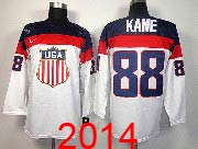 Mens nhl team usa #88 kane white (2014 olympics) Jersey