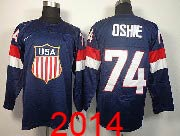 Mens nhl team usa #74 oshie blue (2014 olympics) Jersey