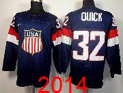 Mens nhl team usa #32 quick blue (2014 olympics) Jersey