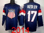 Mens nhl team usa #17 kesler blue (2014 olympics) Jersey
