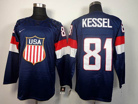 Mens nhl team usa #81 kessel blue (2014 olympics) Jersey