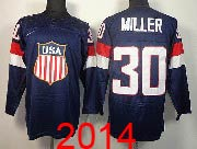 Mens nhl team usa #30 miller blue (2014 olympics) Jersey