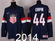 Mens nhl team usa #44 orpik blue (2014 olympics) Jersey