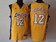 Mens Nba Los Angeles Lakers #12 Brown Gold Revolution 30 Jersey (p)