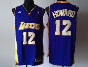 Mens Nba Los Angeles Lakers #12 Brown Purple Revolution 30 Jersey (p)