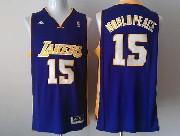 Mens Nba Los Angeles Lakers #15 World Peace Purple Revolution 30 Jersey (p)