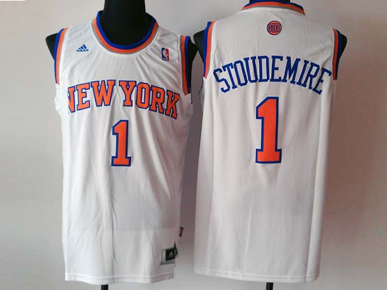 Mens Nba New York Knicks #1 Stoudemire White Revolution 30 Jersey (p)