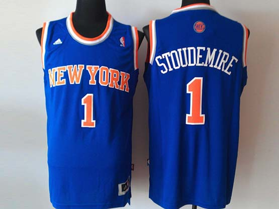 Mens Nba New York Knicks #1 Stoudemire Blue Revolution 30 Jersey (p)