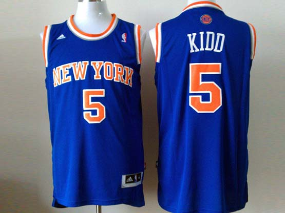 Mens Nba New York Knicks #5 Kidd Blue Revolution 30 Jersey (p)