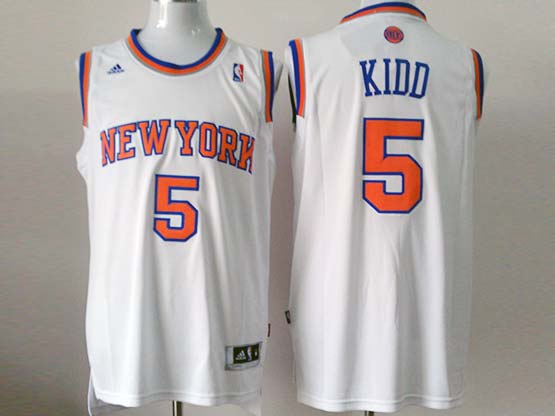 Mens Nba New York Knicks #5 Kidd White Revolution 30 Jersey (p)