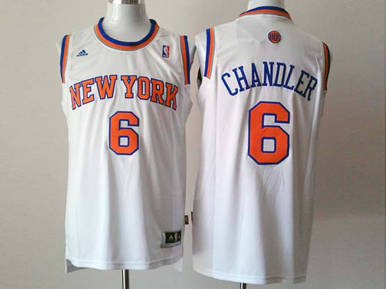 Mens Nba New York Knicks #6 Chandler White Revolution 30 Jersey (p)
