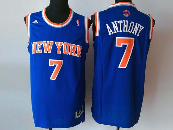 mens nba New York Knicks #7 Carmelo Anthony blue revolution 30 jersey (p)