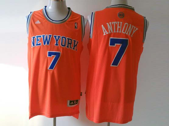 mens nba New York Knicks #7 Carmelo Anthony orange revolution 30 jersey (p)