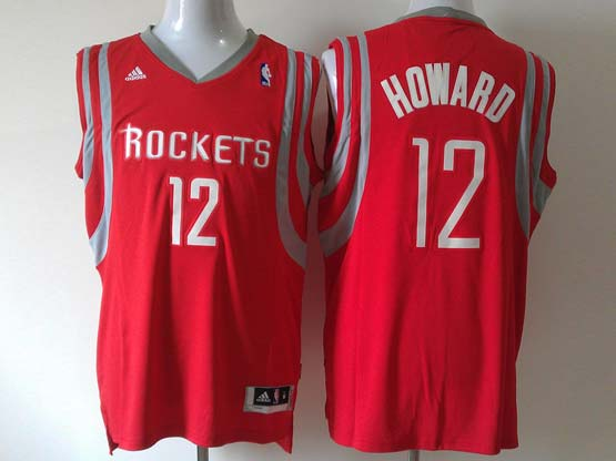 Mens Nba Houston Rockets #12 Howard Red (white Number) Revolution 30 Jersey (p)
