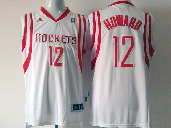 Mens Nba Houston Rockets #12 Howard White Revolution 30 Jersey (p)