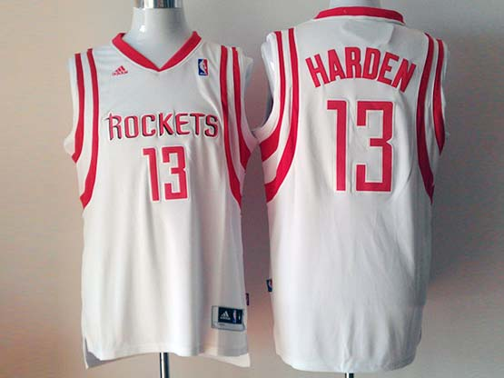 Mens Nba Houston Rockets #13 Harden White Revolution 30 Jersey (p)