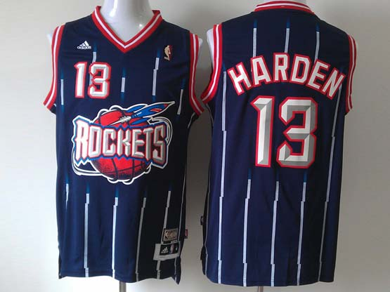Mens Nba Houston Rockets #13 Harden Blue Stripe Revolution 30 Jersey (m)