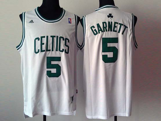 Mens Nba Boston Celtics #5 Garnett White Revolution 30 Jersey (p)