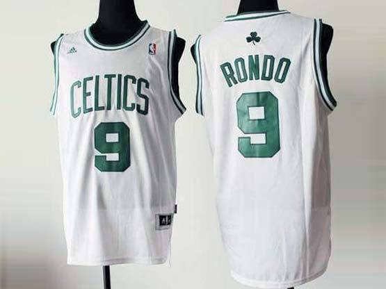 Mens Nba Boston Celtics #9 Rondo White Revolution 30 Jersey (p)