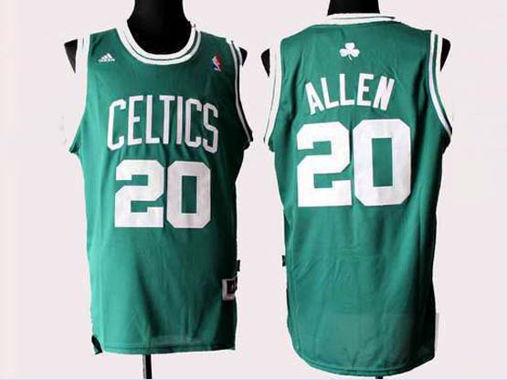Mens Nba Boston Celtics #20 Allen Green (white Number) Revolution 30 Jersey (p)