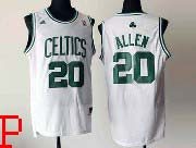 Mens Nba Boston Celtics #20 Allen White Number Revolution 30 Jersey (p)
