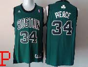 Mens Nba Boston Celtics #34 Pierce Green (black Number) Revolution 30 Jersey (p)