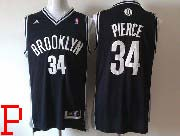 Mens Nba Brooklyn Nets #34 Paul Pierce (brooklyn) Full Black Revolution 30 Jersey (p)