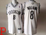 Mens Nba Brooklyn Nets #8 Williams (brooklyn) White Revolution 30 Jersey (p)